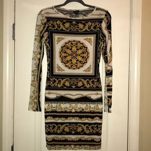 Topshop Versace Print Fitted Dress